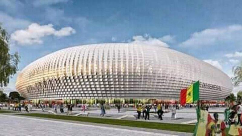 La maquette du futur stade olympique de Diamniadio