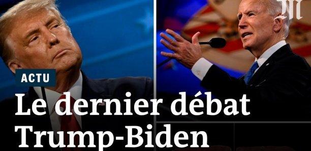 Trump et Biden, pour leur dernier débat, évitent les vagues avant l'élection