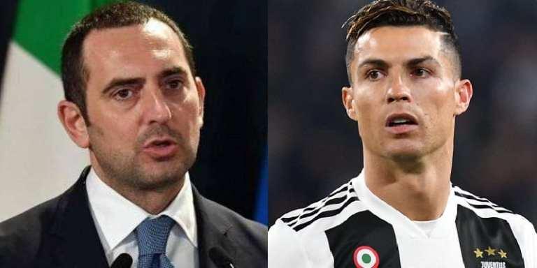 Covid-19 : le ministre des sports de l'Italie s'en prend à Cristiano Ronaldo