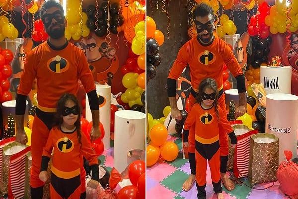 Mohamed Salah se déguise en super-héros pour célébrer l'anniversaire de sa fille (photos)
