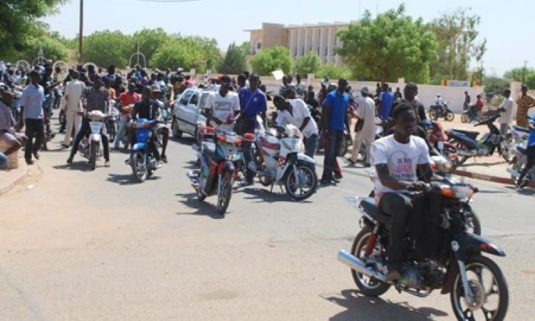 Kaolack : fatigués des tracasseries policières, les conducteurs de moto manifestent