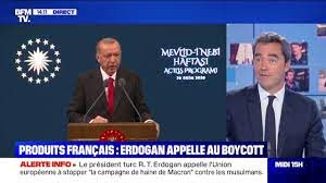 Erdogan appelle au boycott Total des produits français