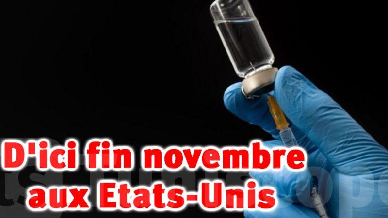 Deux vaccins pourraient être prêts à être autorisés en novembre aux États-Unis
