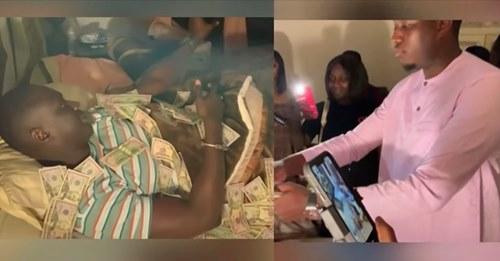 (Vidéo) Mo Gates Débarque Chez Sankara Mbaye Et L'arrose De Millions, Pape Mbaye Et Ndiolé Tall Encaissent Gros
