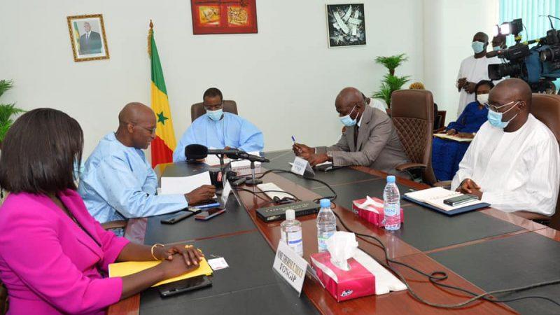 (Photos) Voici les images exclusives de l'accord-Cadre entre l'Etat, l'APBEF et le FONGIP.