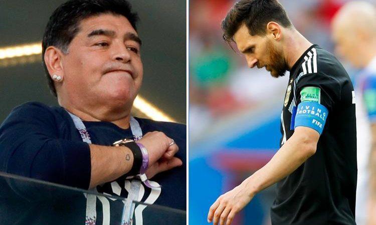 Lionel Messi pleure la légende Diego Maradona