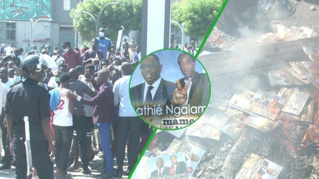 (Vidéo) Urgent – UCAD : Les étudiants « brûlent » Mame Goor Jazaka !