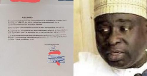 Conacoc : L'imam El Hadji Oumar Diène contesté