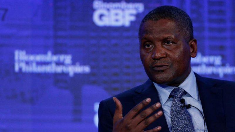 L'annonce du Milliardaire nigérian Aliko Dangote