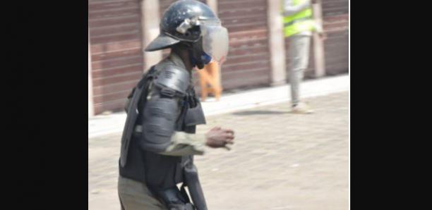 Manifs Pro Sonko à Colobane : Un gendarme touché au visage