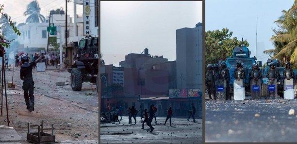 Scènes de guérillas urbaines à Dakar : ça chauffe à Thiaroye, Keur Mbaye Fall, Médina, P. Assainies…