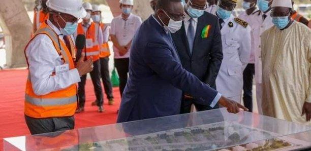 Diamniadio: Macky a visité le chantier du parc des technologies numériques