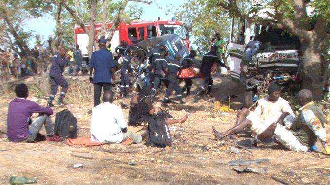 Route pour le Magal Touba : Un camion, contenant des dizaines de personnes, se renverse
